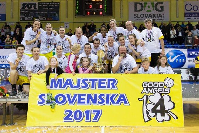 Good Angels Košice, Majser Slovenska pre sezónu 2016-17 (Foto: Ľubka Ištoňová)