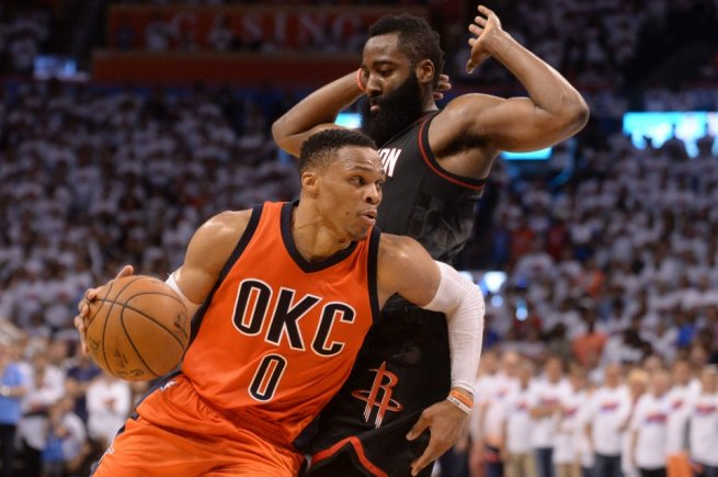 Russell Westbrook - James Harden (Foto: USA Today)
