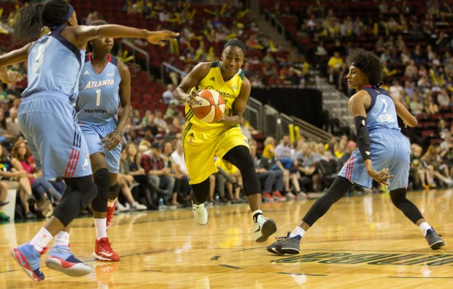 SEA Storm vs. ATL Dream, Jewell Loyd (Seatle) (Foto: wnba.com)