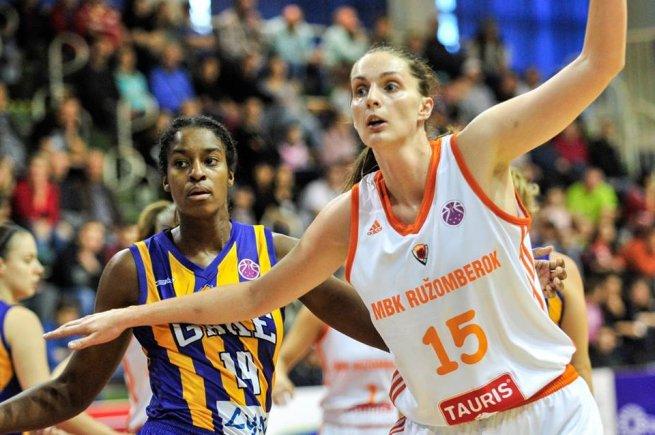 MBK Ružomberok vs. GOOD ANGELS Košice, Janoščíková (15) vs. Peters (14) (Foto: Rudo Maškurica/fb MBK Ružomberok)