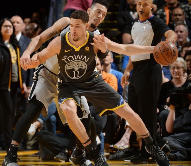 GS Warriors vs. SA Spurs, Klay Thompson (11) (Foto: nba.com)