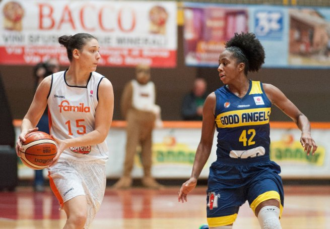 Familia Schio (Tal.) vs. Good Angels Košice, Zandalasini(15) vs. Johnson(42) (Foto: FIBA / Familia Schio)