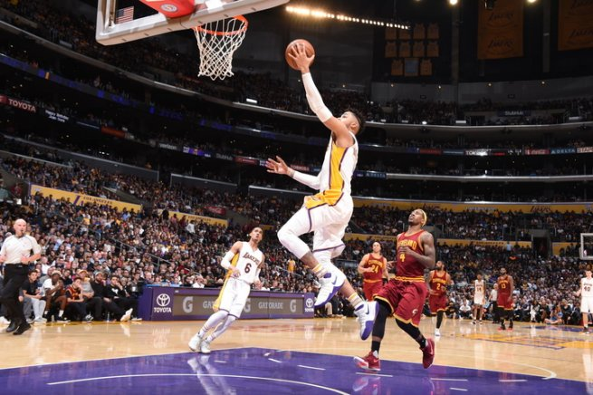 LA Lakers vs. CLE Cavaliers, DAngelo Russel (1) (Foto: nba.com)