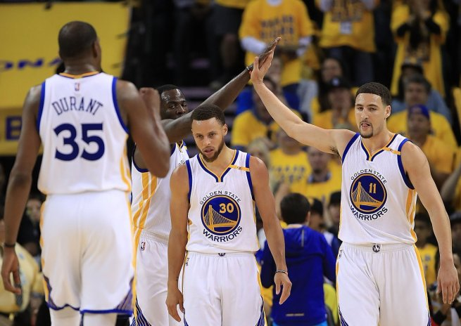 Golden State Warriors, Curry, Durant, Green, Thompson (Foto: nba.com)