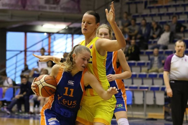 GOOD ANGELS Košice – FSG Royal Eagles (NED), Anna Jurčenková (12) (Foto: facebook EEWBL)