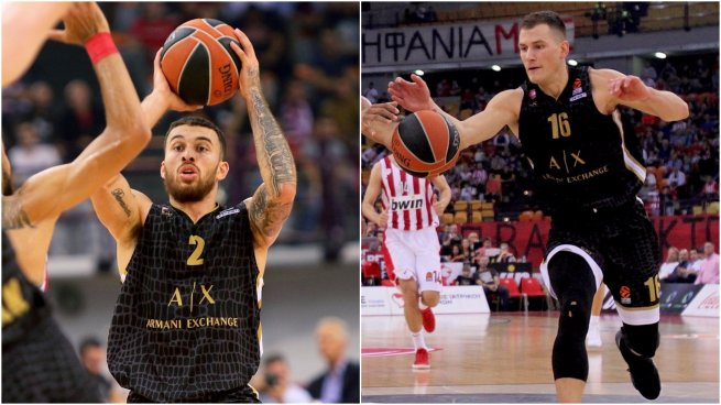 Mike James (2) a Nemanja Nedovič (16), AX Armani Exchange Olimpia Miláno (ITA) (Foto: euroleague.net)