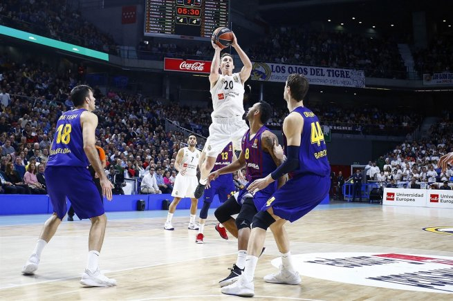 Real Madrid (ESP) vs. FC Barcelona Lassa (ESP), Jaycee Carroll (20) (Foto: euroleague.net)