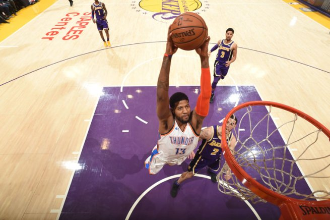 LA Lakers vs. OKC Thunder, Paul George (13) (Foto: nb)