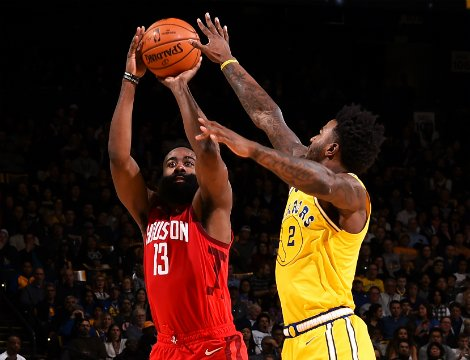 GS Warriors vs. HOU Rockets, James Harden (13) (Foto: nba.com)