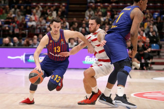 AX Armani Exchange Olimpia Miláno (ITA) vs. FC Barcelona (ESP), Thomas Heurtel (13) (Foto: euroleague.net)