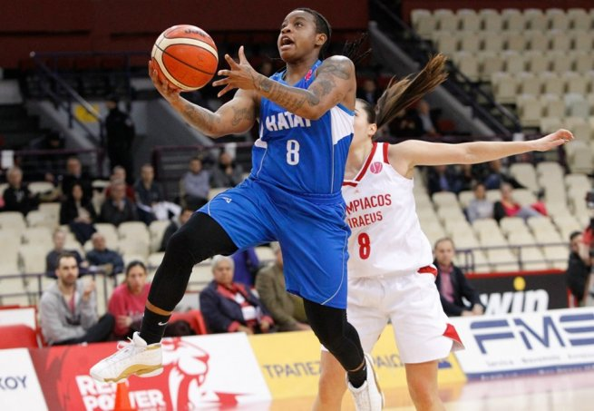 Olympiakos Pireus (GRE) vs. Hatay BB Antakya (TUR), Riquna Williams (8) (Foto: fiba.basketball)