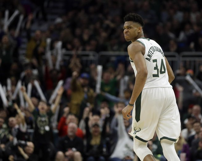 Giannis Antetokounmpo (34), Milwaukee Bucks (NBA, USA) (Foto: SITA/AP)
